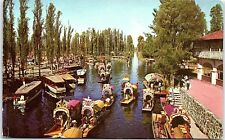 Postcard Xochimilco Mexico Floating Gardens AD7