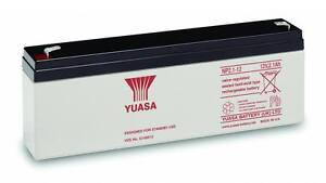 New REPLACEMENT YUASA NP2.1-12, 12V 2.1Ah / 2.3Ah Battery for ACCENTA 8 ALARM