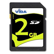 NEU Vida IT 2GB SD Karte Speicherkarte für Kamera Tablette PC GPS NAVIGATION