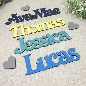 Painted Wooden Names/Words in Sizes 5cm - 20cm Bedroom Wall Decor Toy Box Names