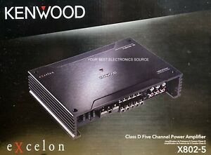 NEW KENWOOD X802-5 eXcelon Class D, 5-Channel Car Audio Amplifier