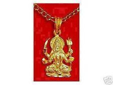 LOOK Hindu Goddess Santoshi Mata OM 24K Gold Plated Charm Mother of Happiness