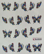 Accessoire ongles: nail art - Stickers autocollants -motifs papillon multicolore