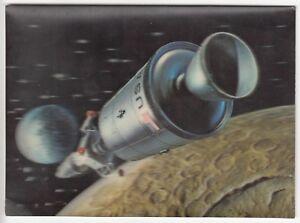 3D Lenticular Space USA  spacecraft  The Earth  Postcard