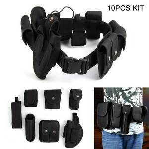 Tactical belt 9 pouches Army-Police-Guard Outdoor camping treckking utility New