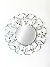 """Your Home and Beyond 24x24x2"""" Modern Silver Metal Wall Mirror Addison Collection"""