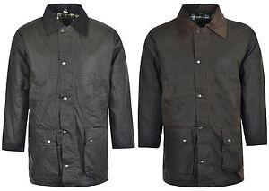 Men's Turnstone Padded Wax Cotton Rain Jacket Coat Hunting Riding size S-XXXL