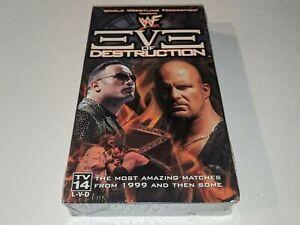 *NEW* WWF EVE OF DESTRUCTION Wrestling VHS Video Attitude Era Match Collection+