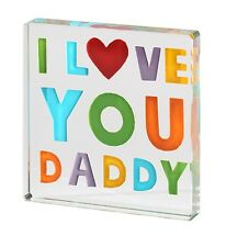 Spaceform Colourful Glass Miniature Token I Love You Daddy Fathers Day Gift 1844