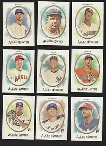 2017 TOPPS ALLEN & GINTER #'s 1-249 (STARS, ROOKIE RC's, HOF) - WHO DO YOU NEED!