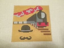 MURDER ON THE ORIENT EXPRESS-MELISSA PRINCE-HANDPAINTED NEEDLEPOINT CANVAS
