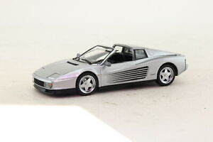Herpa 1:43 Scale; Ferrari Testarossa; Silver Metallic; V Good Unboxed