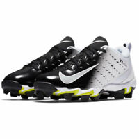 New Youth Nike Vapor Untouchable Shark 3 Football Cleats White / Black Size 3Y