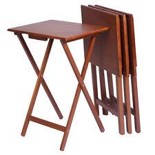 Alera Walnut Wood Folding Table