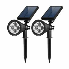AMIR Solar Spotlights Outdoor Upgraded, Waterproof 4 LED Solar Security Lands...