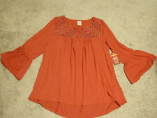 Faded Glory Embroidered Knit Top 1X  16W