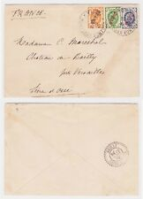 1902 China Cover from Chefoo Russian Post Office Yantai to Seine Et Oise France
