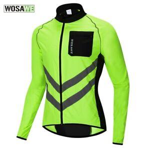 WOSAWE Windbreaker Reflective Jacket Windproof Cycling Jacket Rainproof Jacket