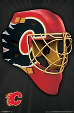 CALGARY FLAMES - MASK LOGO POSTER - 22x34 NHL HOCKEY 15278