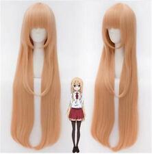 Himouto! Umaru-chan Doma Umaru Long Peach Fashion Girl's Anime Cosplay Wigs