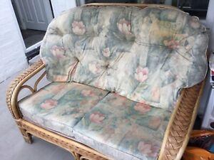 Conservatory Furniture 4 Piece Set Cane/Wicker