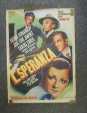 "Esperanza Esther Fernandez Original Mexico 1946 Movie Poster 27""x37"" Art Mendoza"