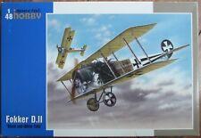"SPECIAL HOBBY 1/48 FOKKER D.II ""Black & White Tails""  WWI Plastic kit. *NEW*"