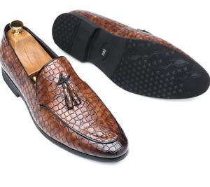 Mens Leather Shoes Business Slip-on Loafer Workwear Tassel Wedding Pumps 38-47