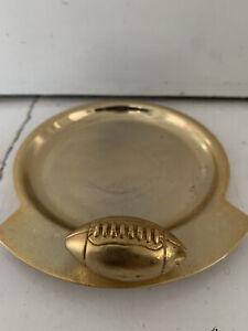 American Football metal NFL Ashtray/dish - gold/brass - Man Cave/home/garden Bar