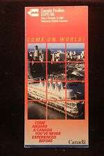 Wolrds Fair Expo 1986 Vancouver Canada Pavilion Color Fold-Out Brochure NICE