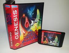 Eliminate Down - Horizontal Shooter Game for Sega Genesis! Cart & Box