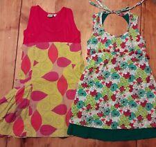 lot 2 robes fille fleurs pompons été créateur BLA...BLA  4 - 5 - 6 ans tbe