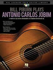 BILL PIBURN PLAYS ANTONIO CARLOS JOBIM GUITAR TAB SHEET MUSIC SONG BOOK W/CD