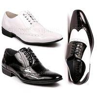 Metrocharm MC110 Men's Wingtip Lace Up Tuxedo Oxford Dress Shoes