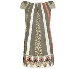 ICONIC ALL SAINTS AZTEC DAZZLE SEQUINED LOW BACK DRESS, UK Size 6/EU 34/US2 £295