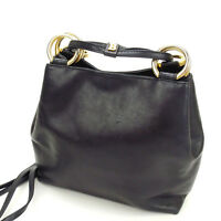 Bally Shoulder bag Black Gold Woman Authentic Used Y771