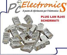 10 PEZZI CONNETTORE LAN CAT5  ETHERNET PLUG  RJ45 NETWORK INTERNET SCHERMATI