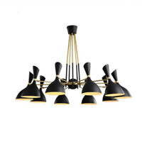 Modern Industrial 3/6/8/10 Heads Chandeliers Ceiling Lights Pendant Lamp Shades