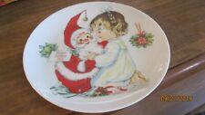 HAPPY HOLIDAYS 1974 CHRISTMAS PLATE CHARLOT BYJ GOEBEL  SANTA CLAUS GERMANY