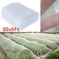 50x5ft Garden Mosquito Netting Bug Insect Bird Net Hunting Plant Protect Barrier