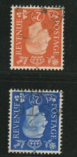 G.B. KG VI  2d + 2.1/2d inverted watermarks good - fine used S.G. cat £44