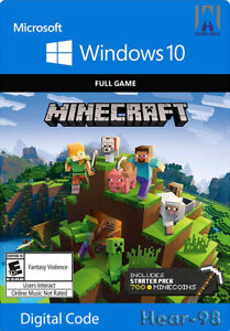 Minecraft Windows 10 Edition CD Key (PC)