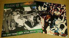 CHAIN OF STRENGTH THE ONE THING / CIRCLE STORM LP LOT  (SEALED) SXE NYHC JUDGE