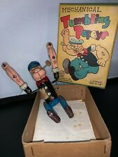 Mechanical Tumbling POPEYE Wind up tin toy Linemar Toys, Louis Marx & Co.