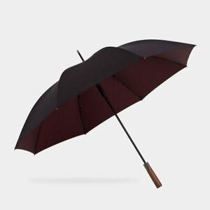 Big Umbrella Men 120 cm Windproof Reinforced Golf Long Business Wood Handle Auto