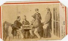 NADAR MANOURY Lima scène de genre CDV photo militaire groupe d'hommes 1860