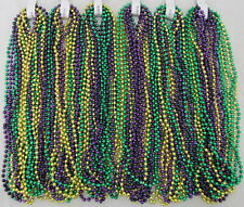 Mardi Gras Beads Purple Green Gold 6 Dozen School Pgg Parade Party 72 Necklaces