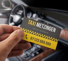 Premium Taxi Visitenkarten mit Online Designer selber gestalten