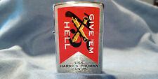 """Zippo Lighter- """"Give 'Em Hell"""" USS Harry S. Truman CVN 75- RARE!!!"""