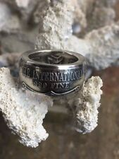 Rare Vintage The International Trade Unit Hand Forged .999 Fine Silver Coin Ring